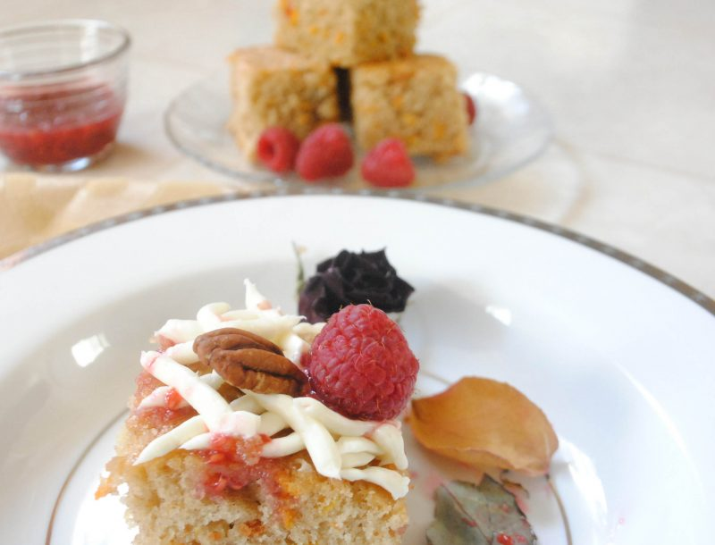 Sweet Potato Cake with (lite) Cream Cheese icing