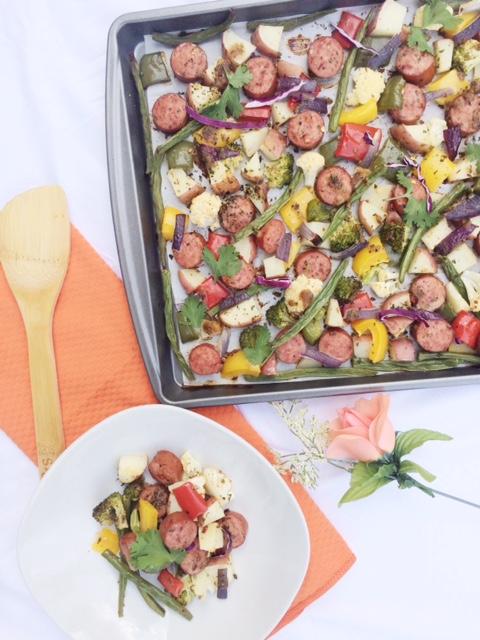 Sheet Pan Turkey Sausage and Veggies
