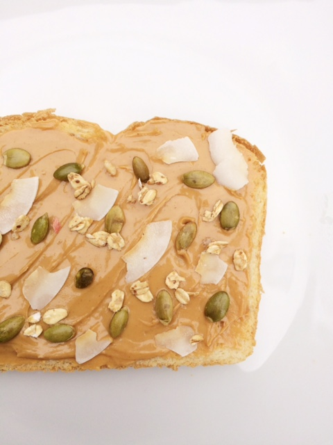 Pecan Butter Toast with Pumpkin Seeds