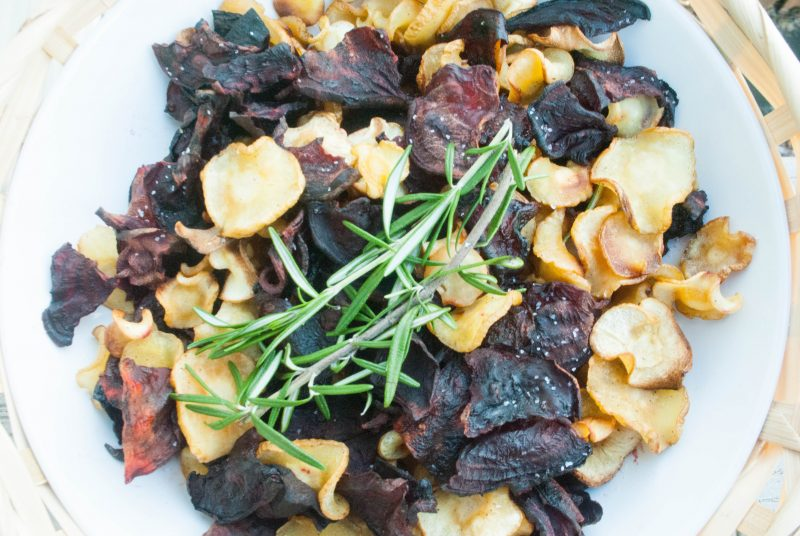 Beet and Parsnips Chips