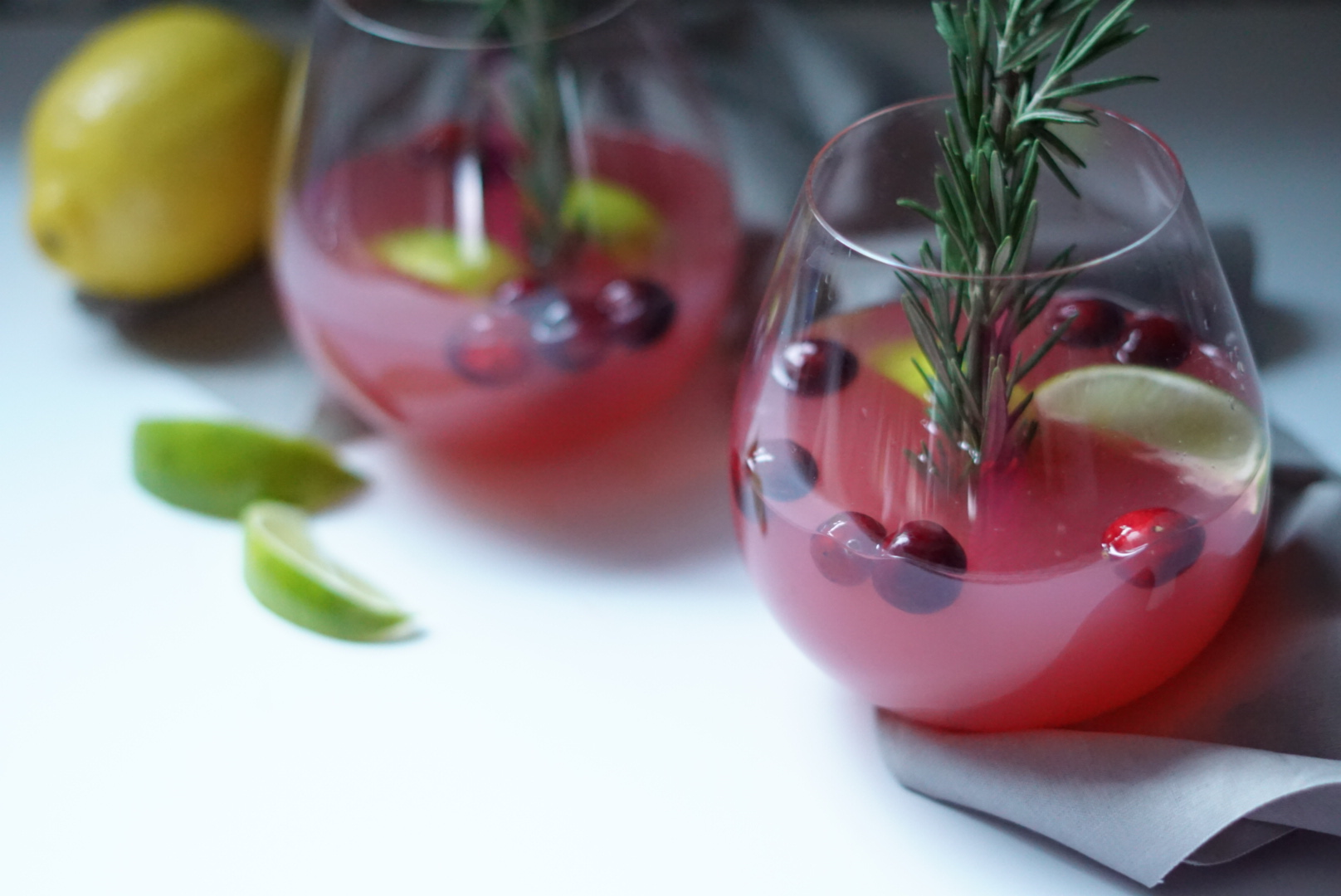Cranberry Ginger Lime Fizz