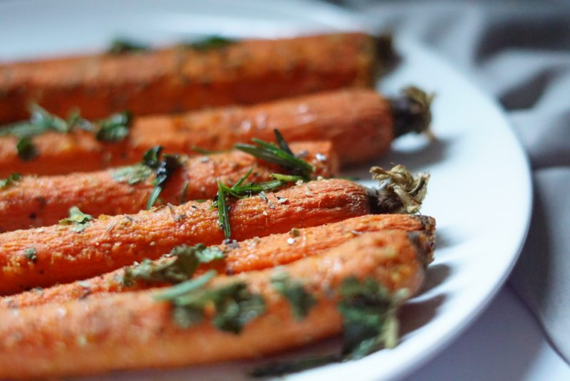 Honey Roasted Carrots with Herbs