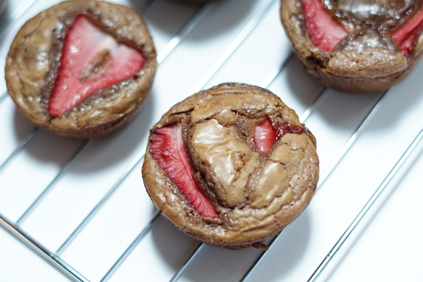 Strawberry Brownie Muffins