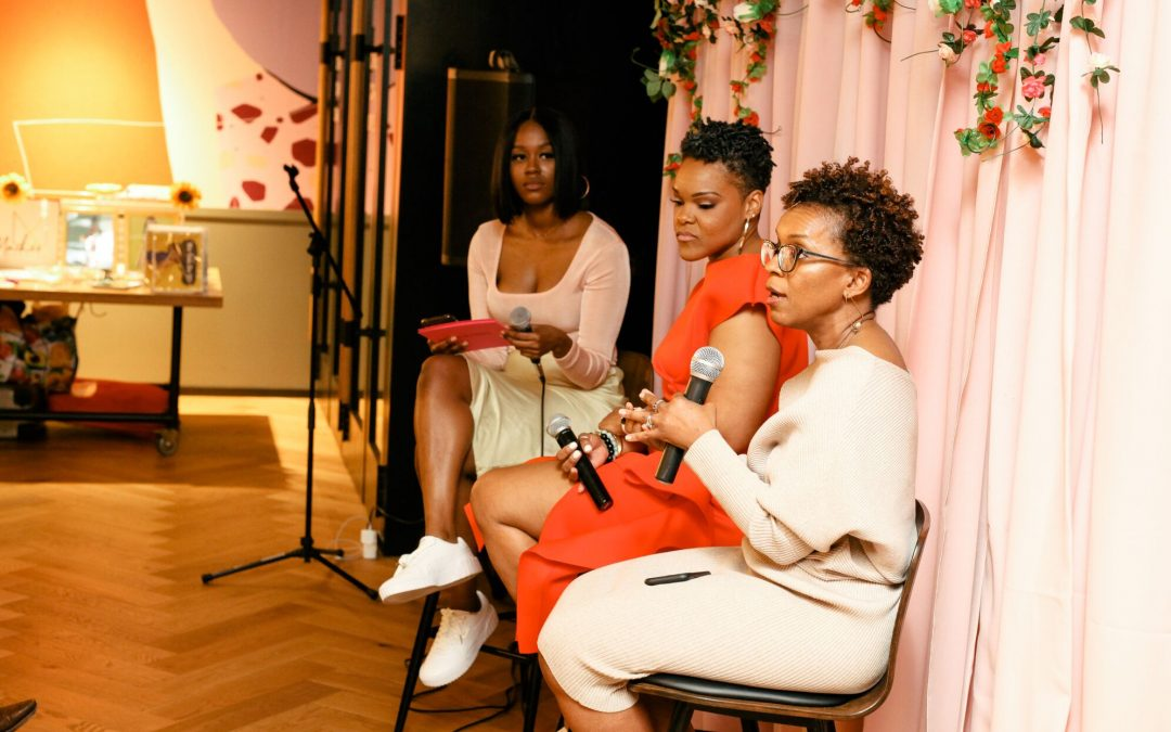 Panel 1 on sexual and reproductive health - Speakers Erica St. Bernard & Dr. Davis with Moderator Moe Digga