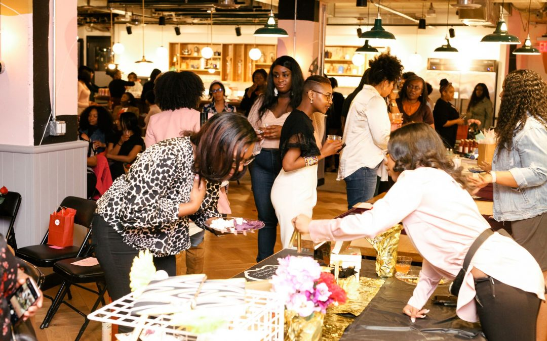 Attendees supporting women owned businesses